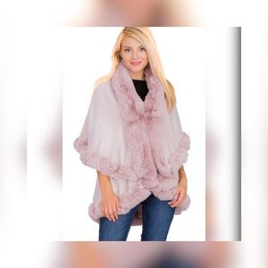 Great Gift Valentine Pink Luxurious Faux Fur Coat